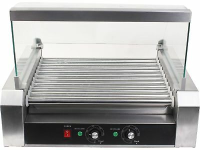 30 Hot Dog 11 Roller Commercial Kitchen Grill Cooker Machine Heater Cover Store