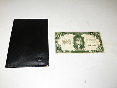 % Vintage Playboy Leather Wallet W/ Certificate %