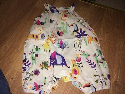Next Baby Girl 9-12 Months Sleeveless Playsuit (Ex Cond)