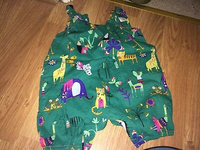 Next Baby Girl 9-12 Months Green Sleeveless Playsuit (Ex Condition)