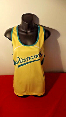 Australian Diamonds Netball C2C Tank Top In Almost New Cond Size 18
