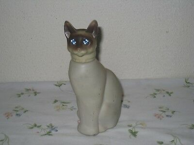 Vintage Avon Cotillion Cologne Siamese Cat with Rhinestone Eyes Bottle