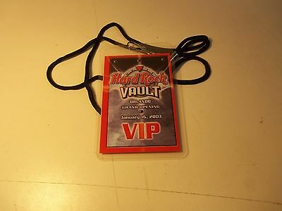ORLANDO GRAND OPENING January 16, 2003 HARD ROCK VAULT VIP Pass w/ Lanyard