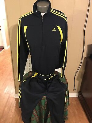 Mens Adidas Clima365 Warm Up Suit Zipper Jacket Size L EUC