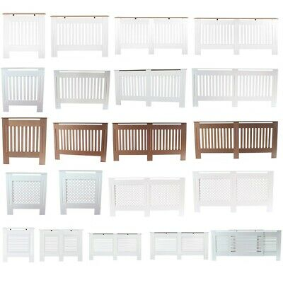 White Painted/Natural UnPainted Radiator Cover Cabinet Shelf MDF Home Furniture