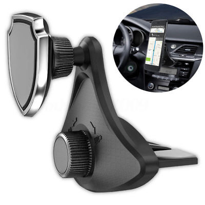 Universal 360° Rotating CD Slot Car Mount Holder Stand Magnetic For Cell Phone
