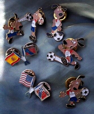 7 Pins Coleccion Mundial Futbol Usa 94 Strike. World Cup