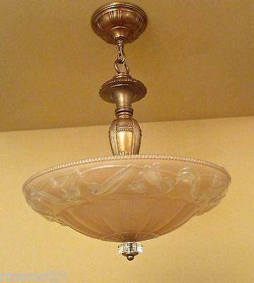 Vintage Lighting matched pair 1930s chandeliers