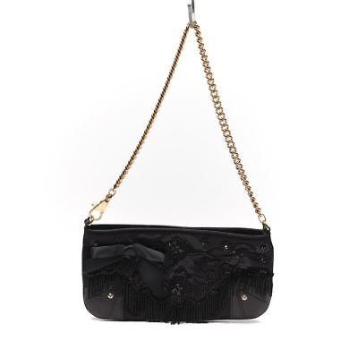DOLCE   GABBANA Handbag Black Satin Beaded With Snakeskin Trim   Gold HW -   303.75   PicClick 447f3c5f1f