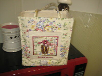 New LONGABERGER CANVAS LUNCH TOTE with Liner