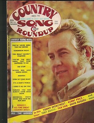 Country Song Roundup Magazine December 1973 Tommy Overstreet Kenny Price