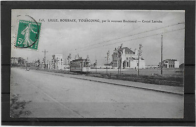 Cp 742  Tramway /  Lille Roubaix Tourcoing