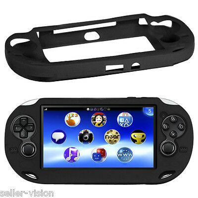 Black Soft Silicone Skin Protector Cover Case Shell for Sony PS Vita Console PSP