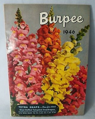 1946 Burpees Seed Sales Catalog 100 Pages Veggies Fruits More