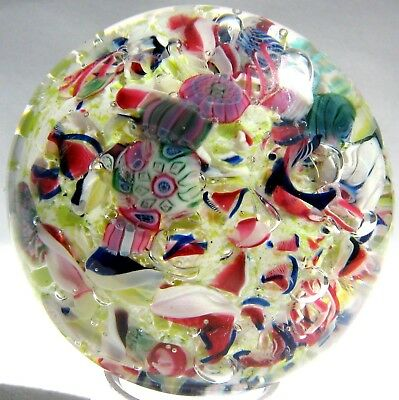 Briefbeschwerer / Paperweight NEW ENGLAND GLASS COMPANY Millefiori End of Day