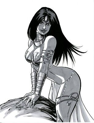 Sexy Dejah Thoris John Carter of Mars original art by Scott Dalrymple