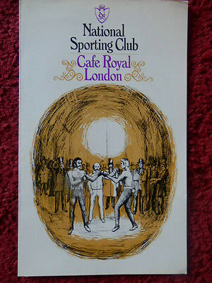 National Sporting Club Boxing Programme 1975