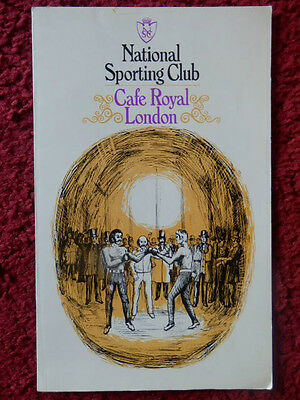 National Sporting Club Boxing Programme 1977