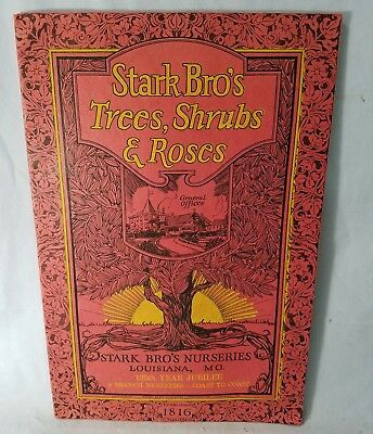Beautiful 1941 Stark Bros Seed Shrub Roses Sales Catalog Louisiana, MO