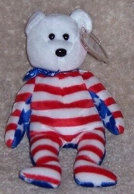 LIBERTY RED WHITE AND BLUE Ty Beanie Baby MINT WITH MINT TAGS