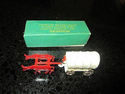 NEW Vintage AnelVin Tin Bullock & Covered Wagon #997 Moving Wheels Hand Painted