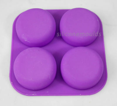 4 cell ROUND Pebble Stone Silicone Bath Soap Mould Tray - Makes 90g Bars 10-008