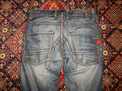 rare G-STAR Jeans Ranch 3D Tapered blau vintage used look Gr. 36/36