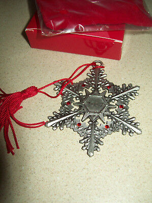Avon Pewter Christmas Ornament 2017 NEW