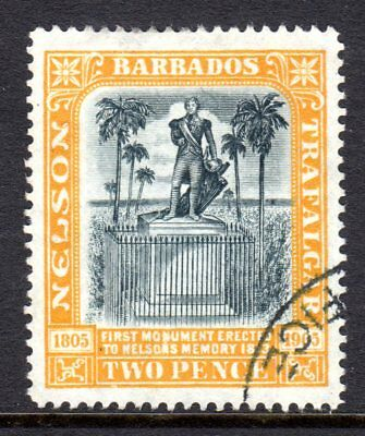 Barbados 1906 (Wmk CC) Nelson Monument  2d Black & Yellow SG148 Used