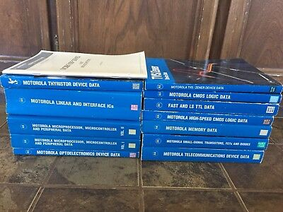 13 Motorola Ic Databook & Manual Collection Rare Vintage History 13 Books