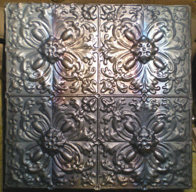 Antique Gothic Victorian Nouveau Ceiling Tin Tile Quatrefoil Flower Cottage Chic
