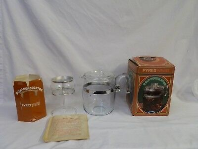 New In Box Vintage 1971 Coffee Maker Pot 9 Cup Pyrex Percolator # 7759