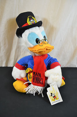 """Scrooge McDuck disney store plush with tag world 14"""" 1561#1"""