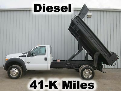 F550 Diesel Automatic 11-Ft Dump Bed Body Contractor Truck 41-K Low Miles