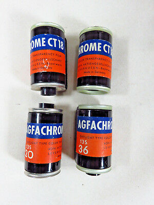 4 ~ Vtg Antique Agfa empty film Canisters Cassettes - old ~ made in Germany!