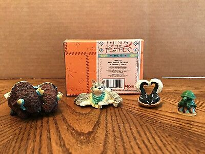 "Enesco Friends Of The Feather ""Wolves"" 4 Assorted Mini Animals  660213"