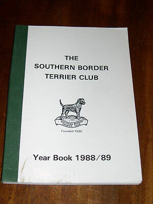 "Rare Dog Book ""the Southern Border Terrier Club Yearbook 1988-1989"" Illustrated"