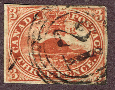Canada #4 Vg Son 21 4-Ring Cancel   (Nor26,17,3
