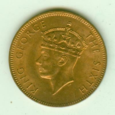 Seychelles Uncirculated 1948 2 Cents-Lot E9