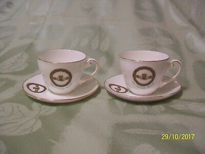 Royal Tara Claddagh Brooch Fine Bone China Cup & Saucer Ireland - 2 Available