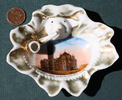 1910s Duluth,Minnesota Central High School Wheelock/Jonroth style pipe ashtray!