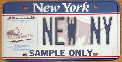 New York Specialty Sample License Plate Number Tag – Niagara Frontier