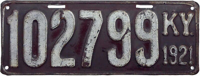 1921` KENTUCKY license plate (GIBBY GOOD)