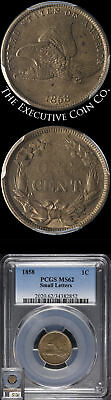 1858 Flying Eagle Cent PCGS MS62 Small Letters Nice Luster Nice Strike