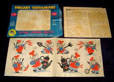 Elephant 1960S Iron On Transfer Vogart Textilprints With Original Package