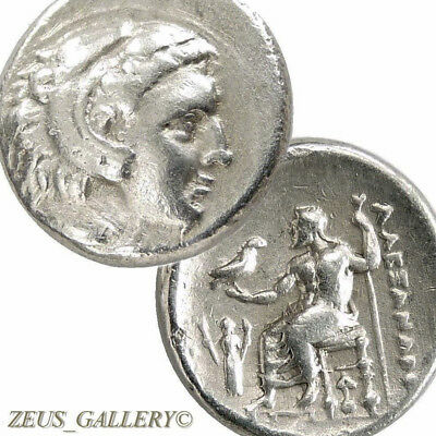 Rare ALEXANDER the Great LIFETIME Coin Demeter 325BC Ancient Greek Silver Drachm