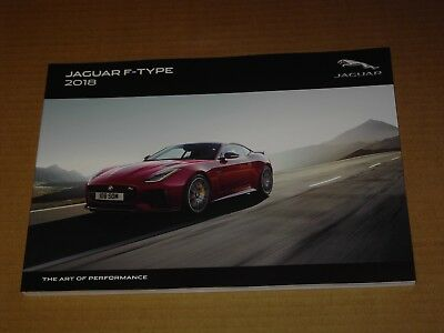 2018 Jaguar F-Type Sales Brochure Mint! 116 Pages
