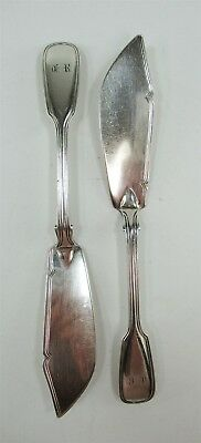 1852-3 George Wm Adams London All Sterling Silver PAIR Fish Knives Victorian