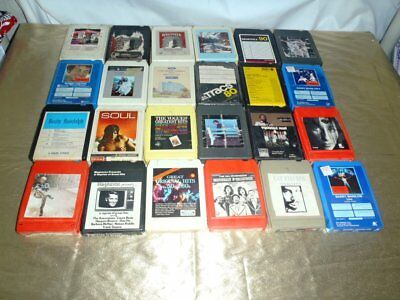 Vintage 8-Track Lot Of 55 Tapes All Have Been Tested In My Player