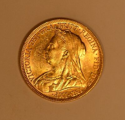 1897-M Great Britain Queen Victoria Veiled Head gold sovereign from Australia